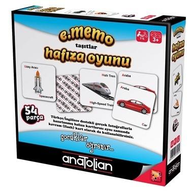 Anatolian  Taşıtlar Hafıza Oyunu 7405 Renkli